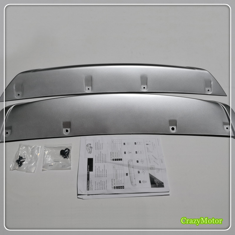 For Nissan Qashqai Dualis J11 2014 15 2016 (Rear part with radar hole) Front & Rear Bumper Skid Protector Guard Plate Cover 2pcs for nissan qashqai j11 2014 2015 2016 stainless steel interior rear trunk bumper sill plate guard pedal protector car accessory page 2
