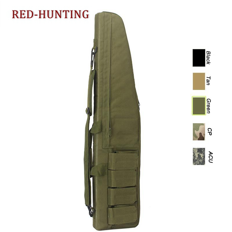 New Tactical 118CM 46.5'' Heavy Gun Slip Bevel Carry Bag Rifle Case Shoulder Pouch Hunting Backpack Bags For Hunting Outdoor