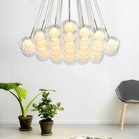 Современная светодио дный светодиодная люстра гостиная подвесные светильники Лофт деко освещение ресторан светильники Nordic спальня стекля
