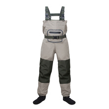 Lightweight Breathable Stockingfoot Fishing Wader Fly Chest Waders Pant for Men and Women