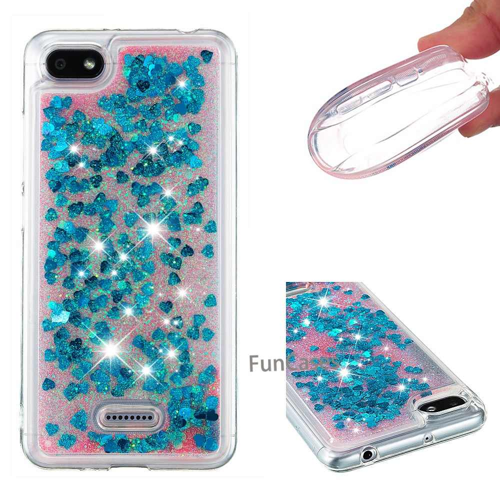Quicksand Dynamic Glitter Case for Xiaomi Redmi 6 Flowing Liquid  Silicone Glitter Phone Back Cover for Redmi 6a Soft TPU Case