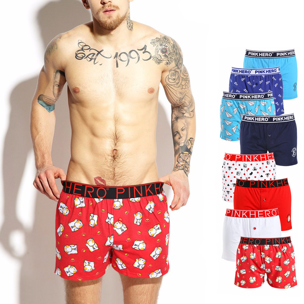 INTERESTPRINT Mens All-Over Print Boxer Briefs Enchanted Forest,Fantasy Landscape Painting XS-3XL