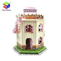 Magic Puzzle 3D Puzzle For House Construction Puzzle Plastic 3D Puzzle Educational Toys For Children Castle