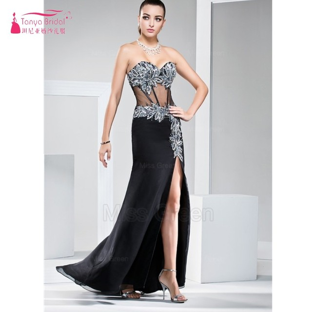 Sheer Waist Prom Dresses