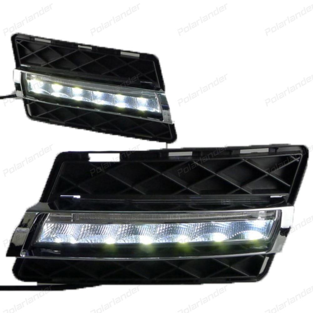 2 PCS car styling FOR M/recedes B/enz GLK 2008 - 2012 LED DRL Daytime Running Light Daylight Fog lamp