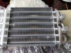 Теплообменник для котла длина 200 мм, двухтрубный теплообменник первичный, аксессуары для газового котла