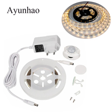 EU US LED Cabinet Light Motion Activated Bed 12V Night IR Body Move Detection Ribbon Strip Lamp for corridor bed
