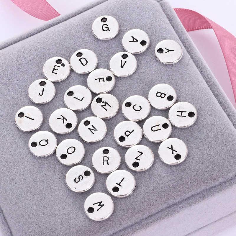 販売 1PC DIY 合金ゴールドカラーの手紙最高 girlsfriend 誕生日ギフト名用ブレスレットネックレス 26 手紙