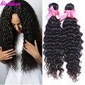 Gracia pelo onda profunda brasileña 4 bundle ofertas 6 A barato armadura del pelo humano del pelo brasileño negro natural 8 '' - 30 '' 100 gramos
