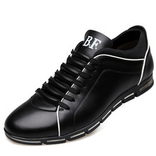 New Casual Men s Business Shoes High Increased Fashion Shoes Men Soft Leather Comfortable Natural Health