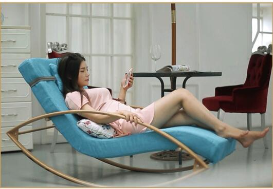 Cloth art rocking chair. Can unpick and wash a beanbag chair.