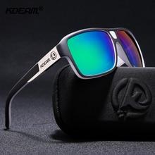 KDEAM Новый зеркало солнцезащитные очки Для мужчин спортивные очки Для женщин поляризационные большой Размеры солнцезащитные очки UV400 защиты с футляр KD520