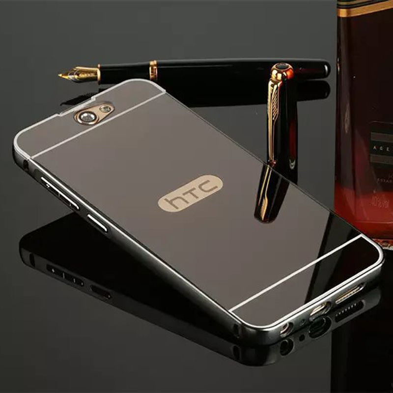 For HTC One A9 Case Cover Aluminum Phone Metal Frame Acrylic Back Cover For HTC One A9 Mirror Cases Bumper Fundas For HTC A9