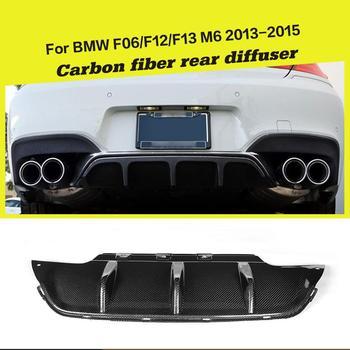 Rear Bumper Diffuser Lip Spoiler for BMW 6 Series F12 F13 F06 M6 Bumper 2012 - 2017 Rear Diffuser Carbon Fiber / FRP car rear spoiler carbon fiber rear trunk lip for bmw 6 series f06 f12 x4 g02 x6 e71 f16 psm cs style carbon rear spoiler wing