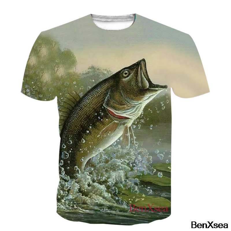 NEW Fish Printed T Shirt 2018 Summer Cool 3D All Over Printed T Shirt