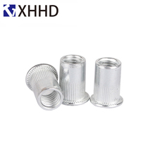 Riveting nuts flat-end knurling pulling round blind hole riveting aluminium M3/4/5/6/8/10/12