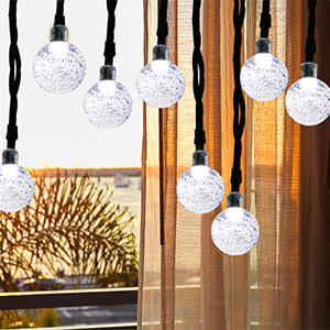 Dcoo Outdoor String Lighting Soldriven Globe Ball Lights 30 LED Sloar - Utomhusbelysning - Foto 4
