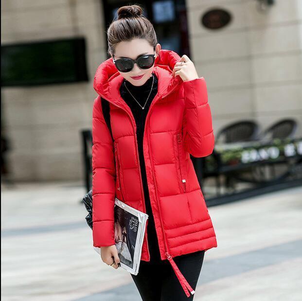 Top New Winter Down Jacket Women Fashion Warm Show Silm Hooded coat ladies Autumn Preppy Korean Style Jackets Size M-2XL