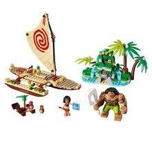Lepin Pogo Bela 10663 Princess Moana Ocean Voyage Girls Building Blocks Bricks Compatible legoe Toys Gifts for Children Model
