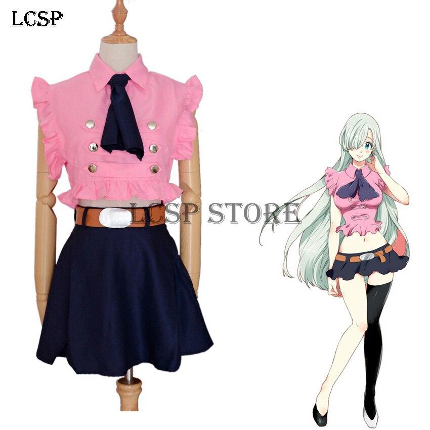 LCSP The Seven Deadly Sins Elizabeth Liones Cosplay Costume Japanese Anime Nanatsu No Taizai Uniform Suit Outfit Clothes