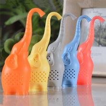 MOFUNYO 1pc Cute Baby Elephant Food-Grade Silicone Tea Infuser Strainers Filter(5 colors available)
