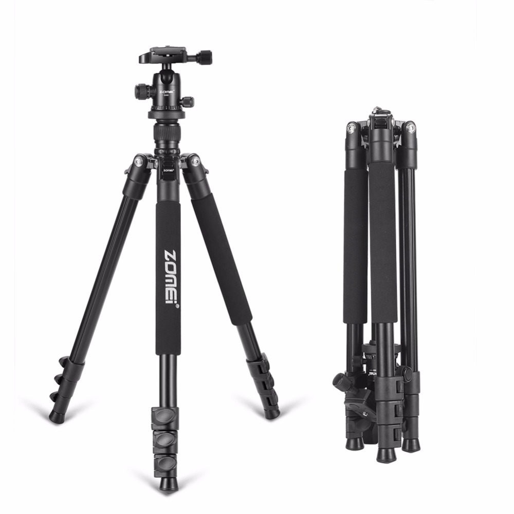 Zomei Q555 Portable Professional Aluminum Flexible Camera Tripod Stand with Ball Head for DSLR cameras цена