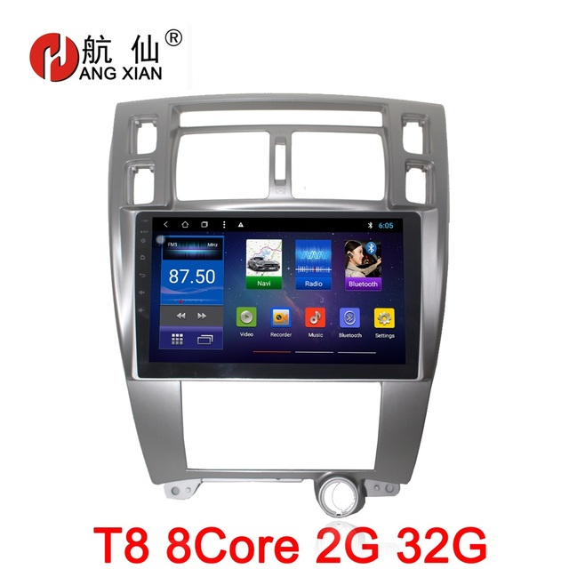 """Bway 10.2"""" 2 din Car radio for Hyundai Tucson 2006-2014 octa 8core Android 8.1 car dvd player gps navigation with 2G RAM,32G ROM"""