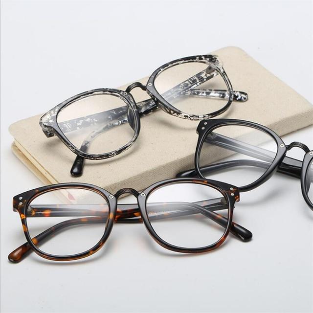 Rivets Eye Glasses Frame Women Men Retro Plastic Frame Clear Lens