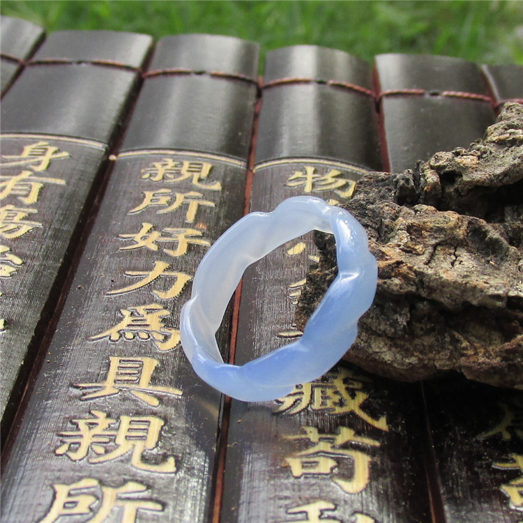 Natural Agate Finger Ring For Male And Female Cannabis -3905
