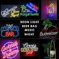 Bar de cerveja da luz de Néon da música neon signs wine design luz Do Tubo De Vidro para Bar início bussiness 18'X4' polegada 17'X14'/19'X15'