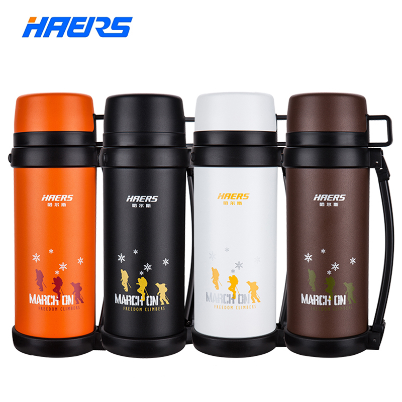 Haers Brand 1.5L Double Stainless Steel Insulated Vacuum Bottle Climb Travel Sports Vacuum <font><b>Thermos</b></font> 12-24 Hours Thermal Pot