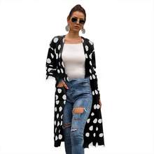 Fashion Sweater Women Cardigan Polka Dot Pocket Blusas De Inverno Feminina Long Sleeve Chompas Para Mujer