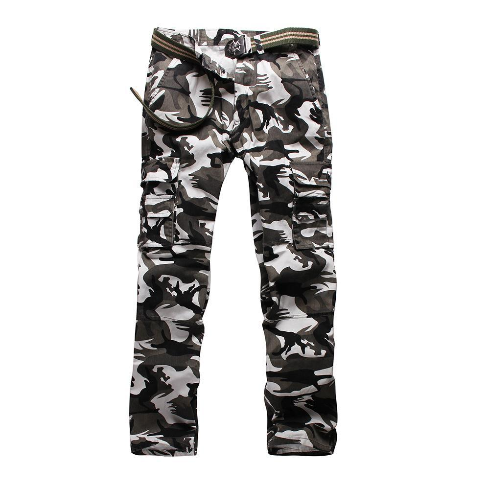Image 5 - Тактические штаны, джинсы Airborne, повседневные, размера плюс, хлопковые, дышащие, мульти карманы, военные, армейские, камуфляжные, брюки карго для мужчин-in Брюки-карго from Мужская одежда