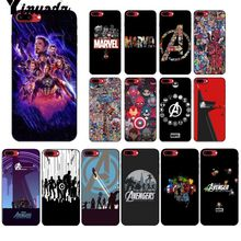 Yinuoda Marvel Avengers Heros Comics  DIY Luxury High-end Protector Case for iPhone 6S 6plus 7 7plus 8 8Plus X Xs MAX 5 5S XR