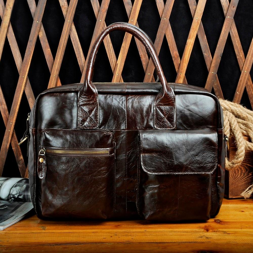 Quality Leather Fashion Large Capacity Business Briefcase Messenger Bag Male Design Travel Laptop Case Tote Portfolio Bag B331c