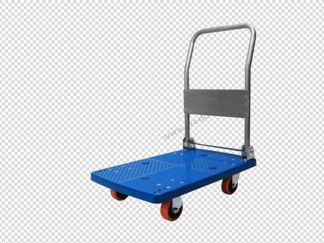 FIVERI Hand Folded Trolley 350Kg PVC Caster Wheel Cart