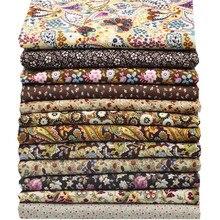 12pcs 23*24cm/46*48cm Cotton Poplin Fabrics Flower Group Patchwork Fabric Crafts Tecidos Home Textile Sewing Clothing
