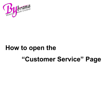 How To Open The Customer Service Page ? web page