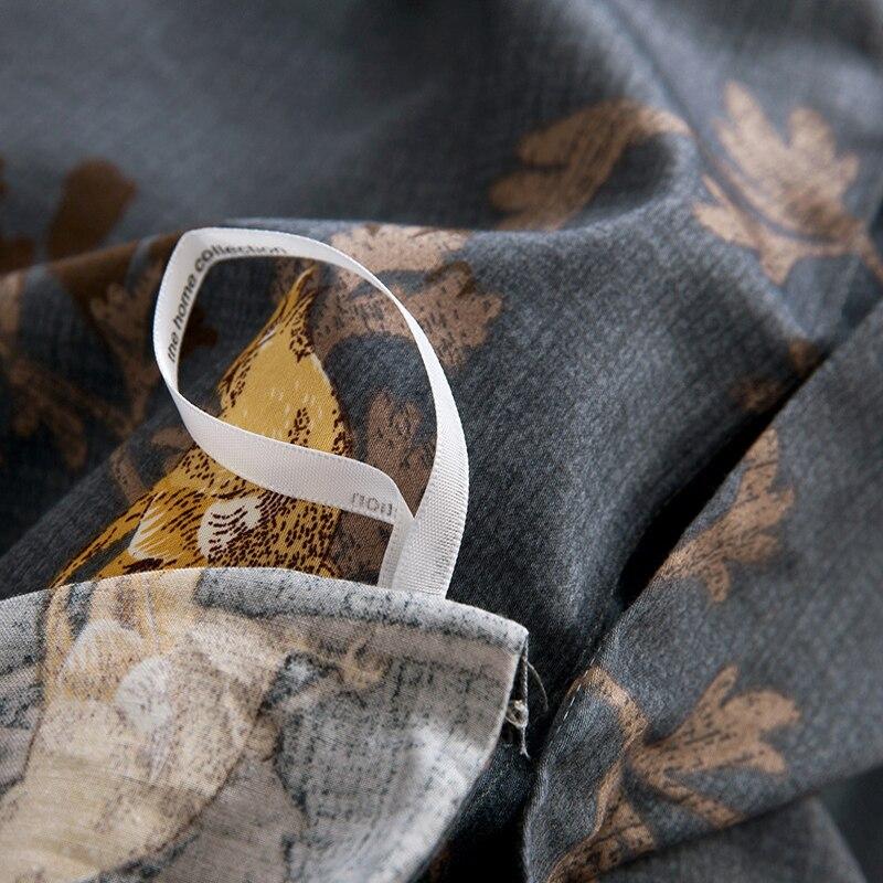 Luxurious Egyptian Cotton Bedding Sets Flower Bird Pattern Duvet Cover Set Bed Sheet Pillowsham 4pcs Pastoral Tribute Silk - 4