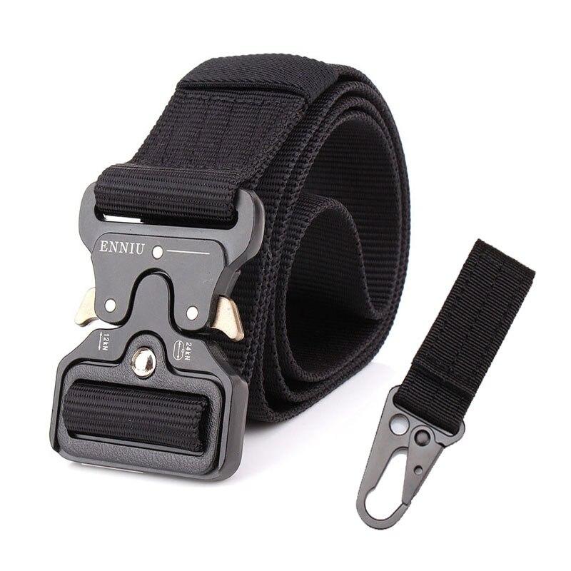 Cinturón táctico Militar hebilla automática cinturón entrenamiento cinturón molle nylon cinturón hombres SWAT ejército combate cinto ajustar Tactical Gear