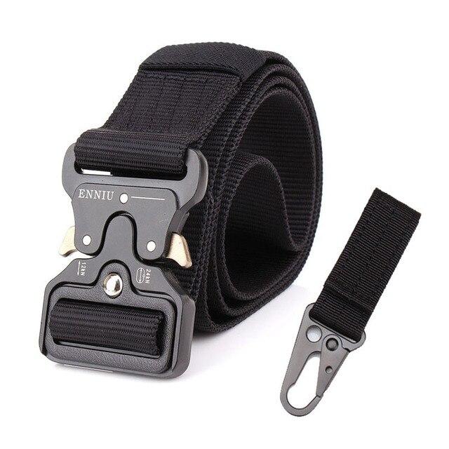 Tactical Belt Military Automatic Buckle Belt Training Waistbelt Molle Nylon Belt Men SWAT Army Combat Cinto Adjust Tactical Gear