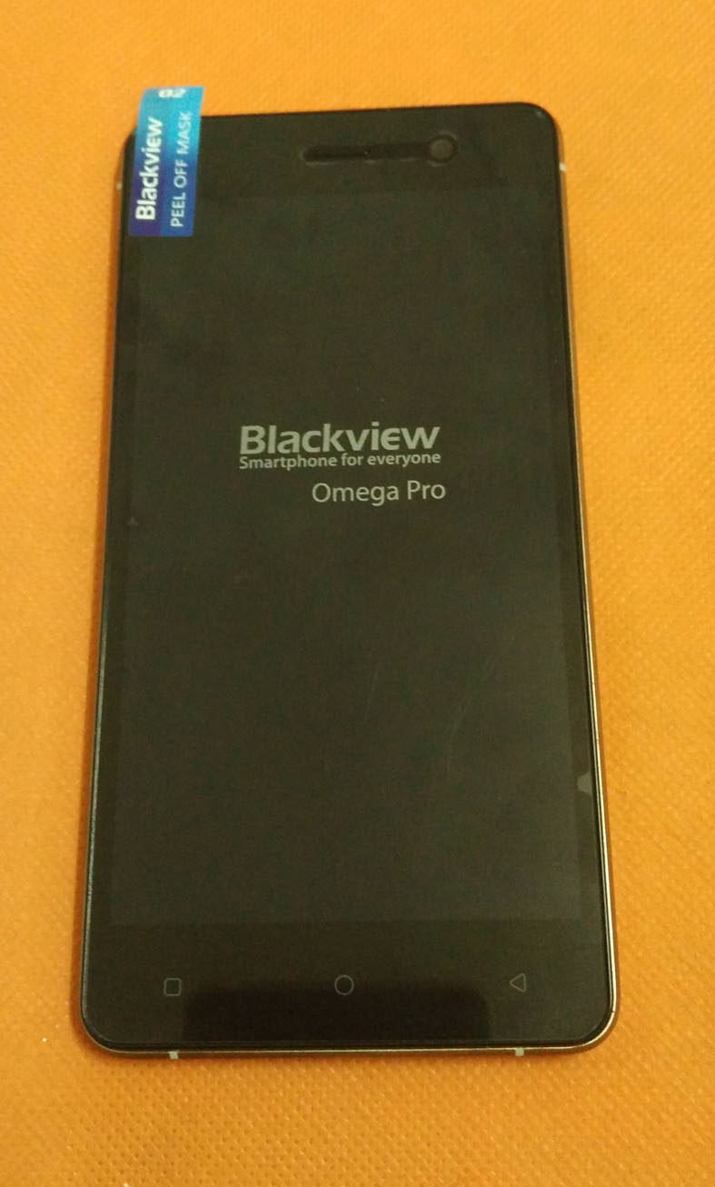 Utilisé LCD D'origine Affichage Écran + Écran Tactile + Cadre Pour Blackview Omega Pro MTK6753 Octa Core 5.0 HD 1280x720 Livraison Gratuite