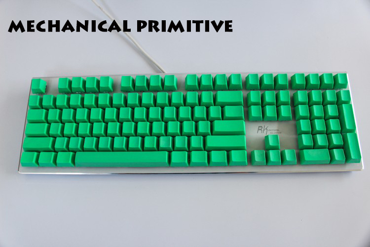 108/87 Keys Thicken PBT Green Blank Keycap High Wear Resistance OEM Profile Keycaps For Cherry MX Switches Mechanical Keyboard