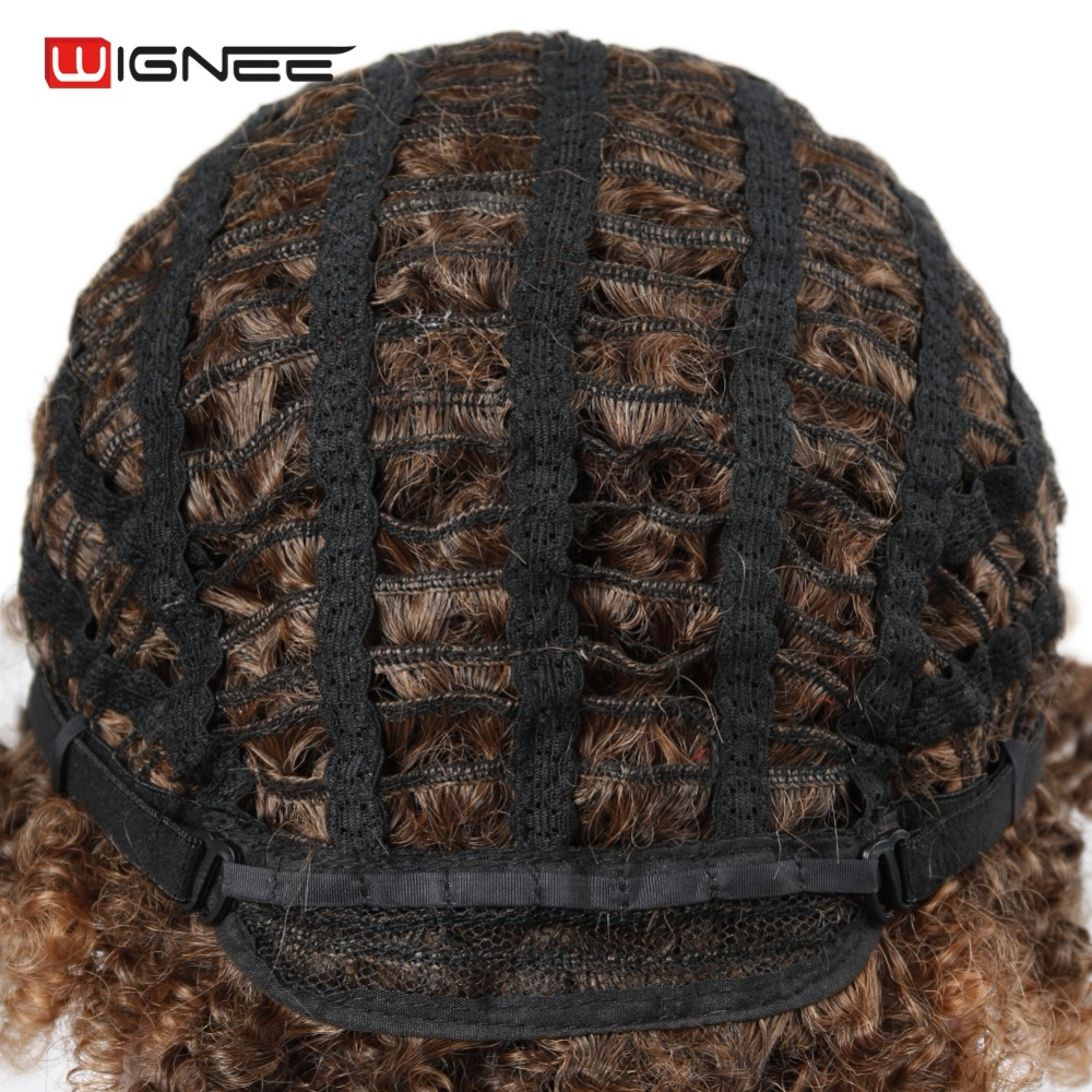 Wignee Short Hair Afro Kinky Curly Wig High Density Temperature - Synthetic Hair - Photo 3