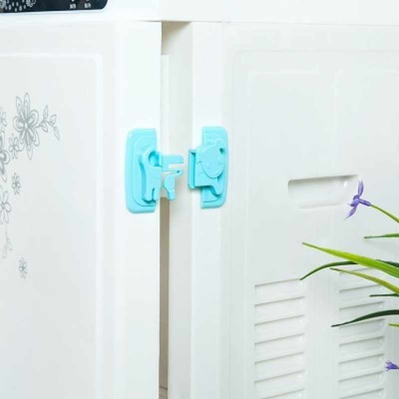 New Baby Safety Products Cartoon Shape Kids Baby Care Safety Security Cabinet Locks Straps Products For Fridge Door Cabinet Lock