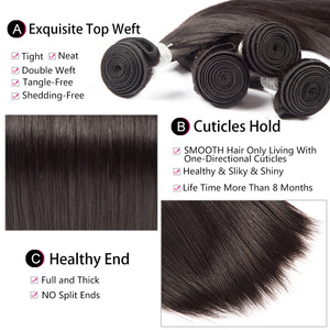 Image 3 - Straight Hair Bundles With Frontal Peruvian Human Hair Bundles with Closure Pre Plucked Remy Lace Frontal With Bundles ALIPOP