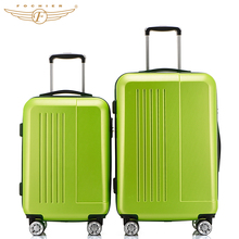 Fochier 2016 New 20 24inches 4 colors ABS luggage 2 Pieces set Hardside Travel Luggage Suitcase Rolling Spinner 4 Wheels 20″+24″