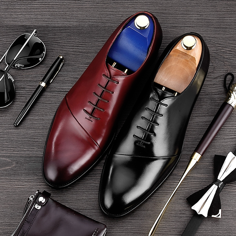 Hot Sale Elegant Handmade Man Formal Dress Shoes New Arrival Genuine Leather Wedding Oxfords Round Toe Men's Party Flats MG90 ruimosi new arrival formal man bridal dress flats shoes genuine leather male oxfords brand round toe derby men s footwear vk94