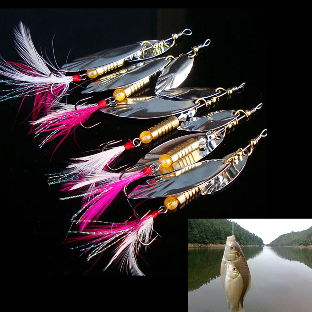 1PCS Bead random color Spinners lure box Ideal For Perch Salmon Pike trout Fishing 10cm x 5cm x 2cm
