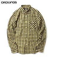 Men Flannel Plaid Shirt 100 Cotton 2017 Casual Long Sleeve Shirt Soft Comfort Slim Fit Styles